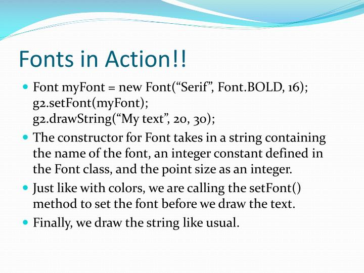 Fonts in Action!!