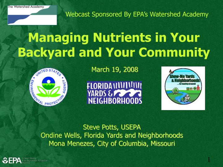 webcast sponsored by epa s watershed academy n.