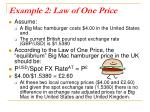 example 2 law of one price