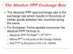 the absolute ppp exchange rate