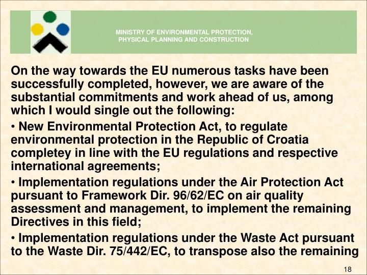 MINISTRY OF ENVIRONMENTAL PROTECTION,