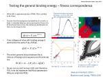 testing the general binding energy fitness correspondence