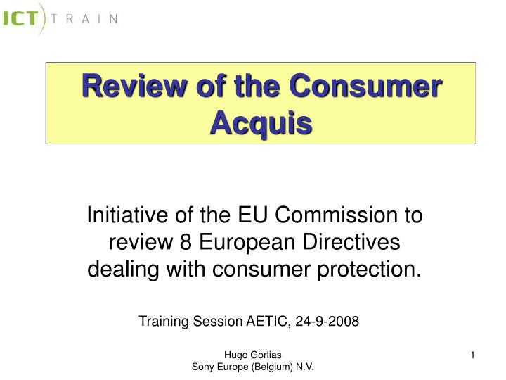 review of the consumer acquis n.