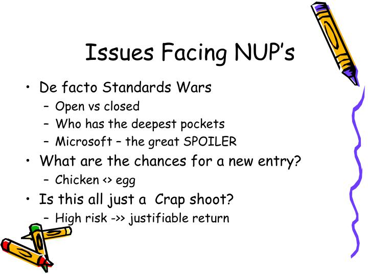 Issues Facing NUP's