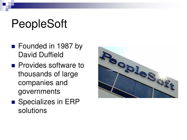 oracle vs people soft In an independent analysis, nucleus research studied various customers who had implemented either: microsoft dynamics gp oracle e-business suite peopl microsoft dynamics gp (great plains) vs sap, oracle and peoplesoft.