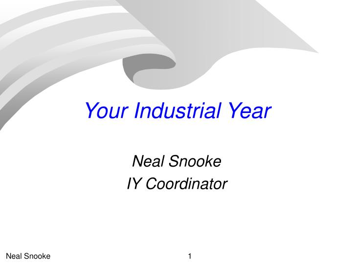 your industrial year n.