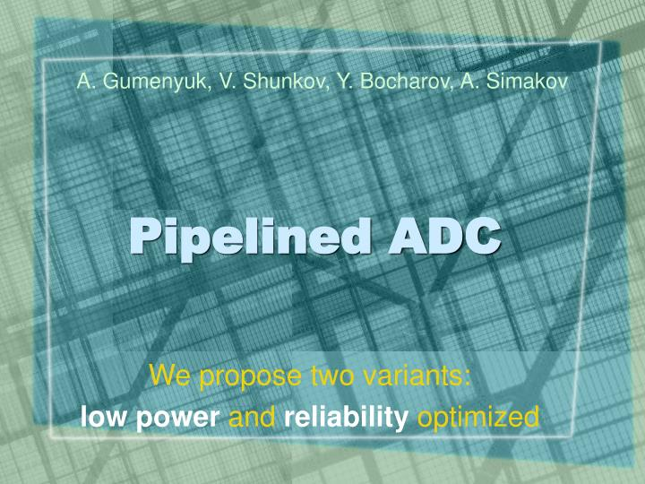 pipelined adc n.