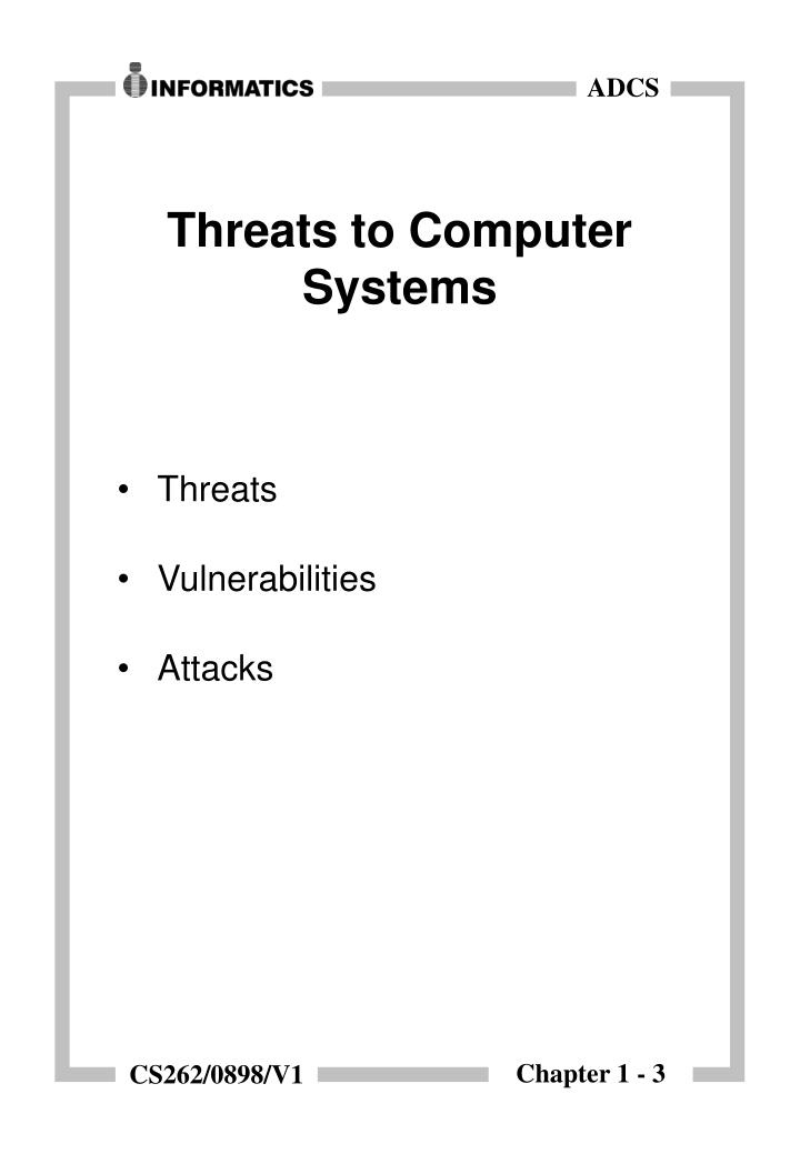 Threats to computer systems