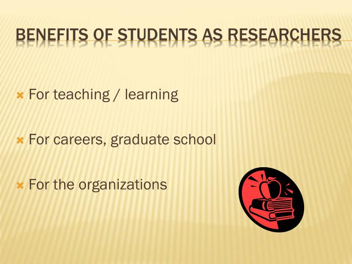 For teaching / learning