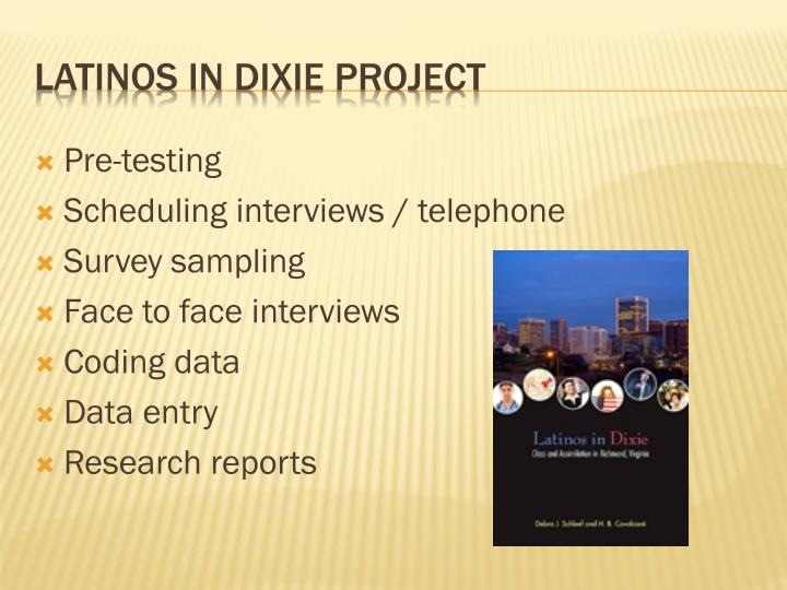 Latinos in dixie project