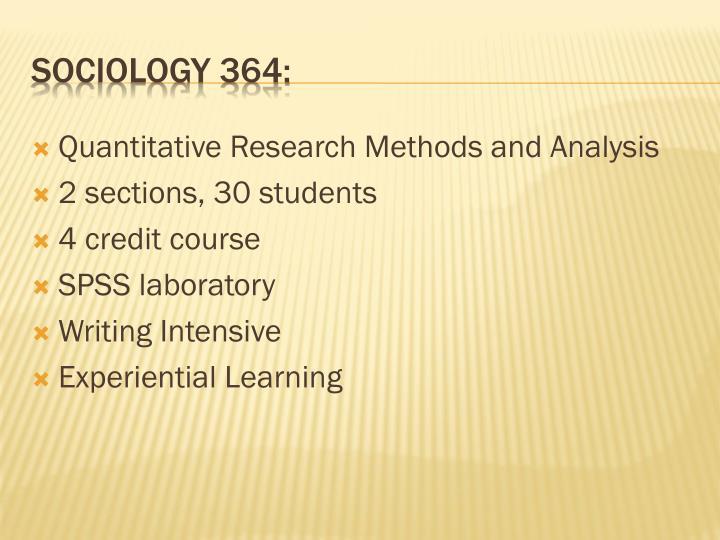 Sociology 364