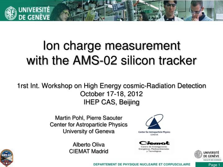 ion charge measurement with the ams 02 silicon tracker n.