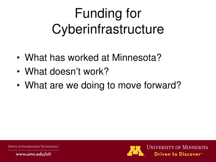 funding for cyberinfrastructure n.