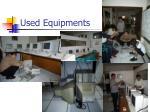 used equipments