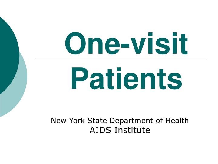 one visit patients n.
