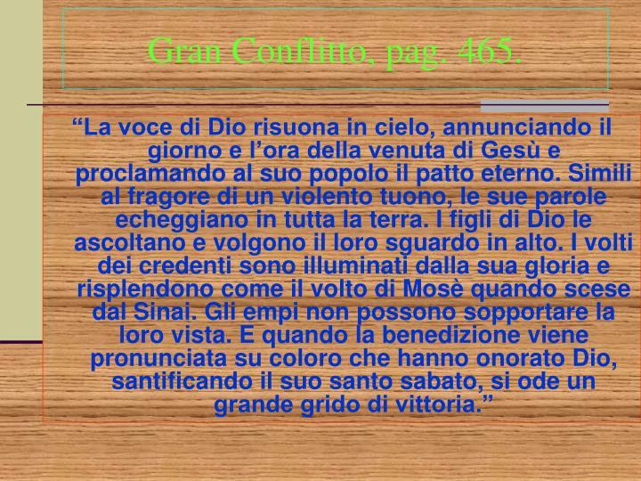 Gran Conflitto, pag. 465.