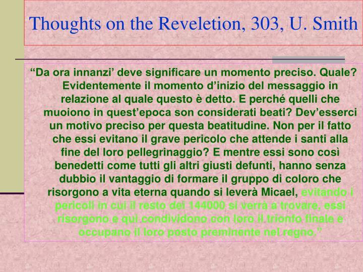 Thoughts on the Reveletion, 303, U. Smith