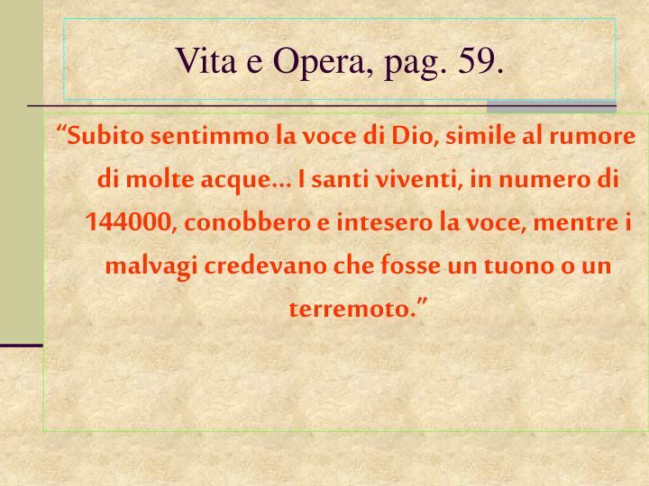 Vita e Opera, pag. 59.