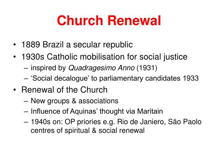 Church Renewal