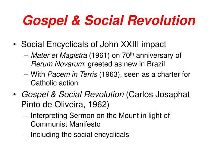 Gospel & Social Revolution