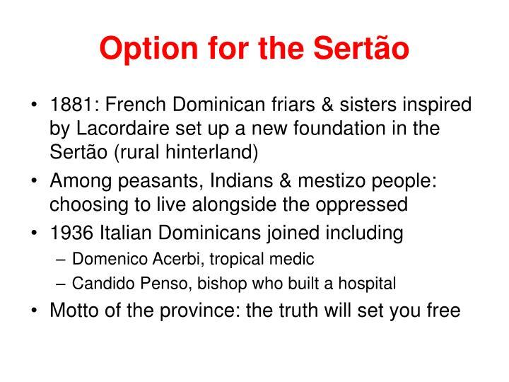Option for the Sert