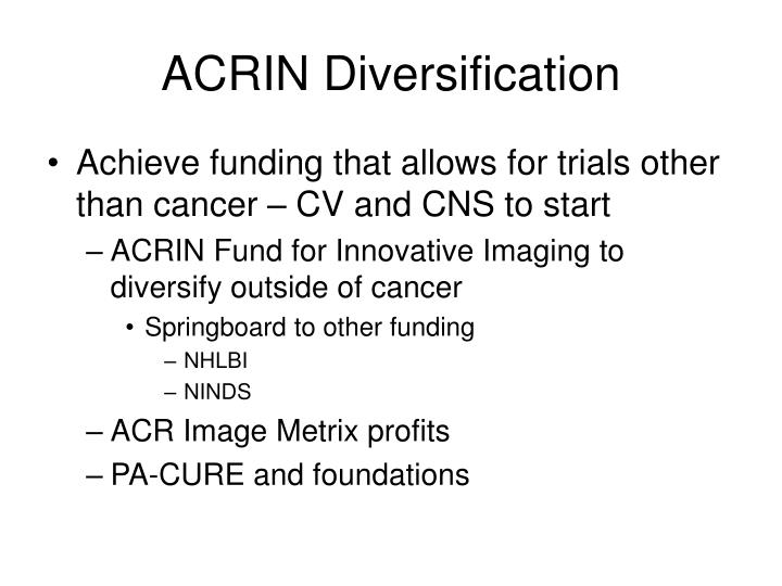 ACRIN Diversification