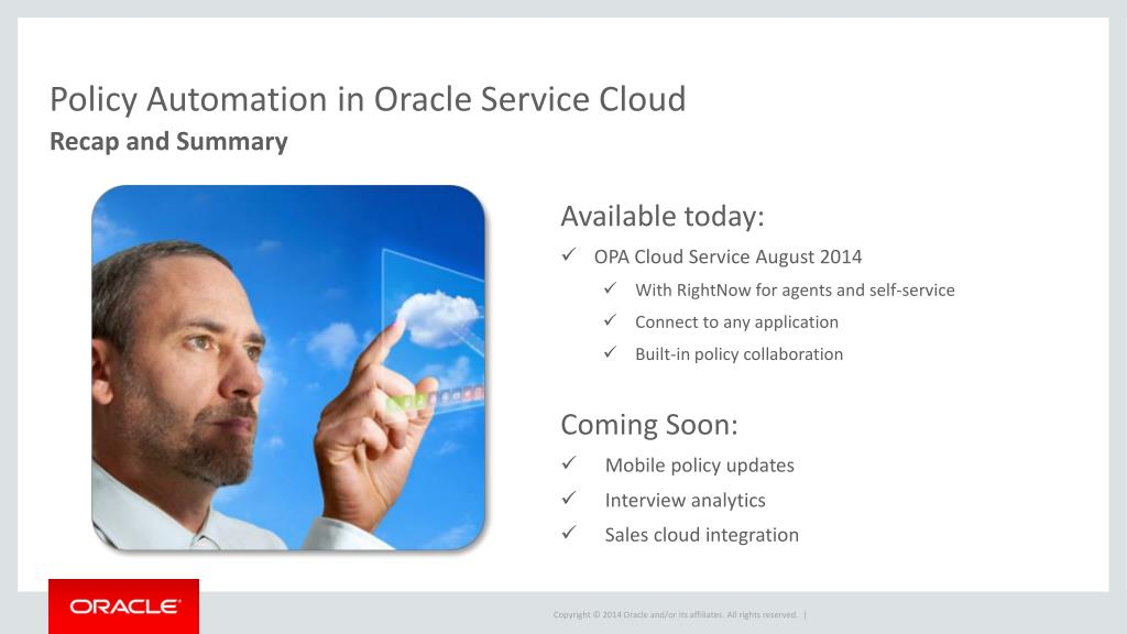 PPT - Policy Automation with Oracle Service Cloud PowerPoint