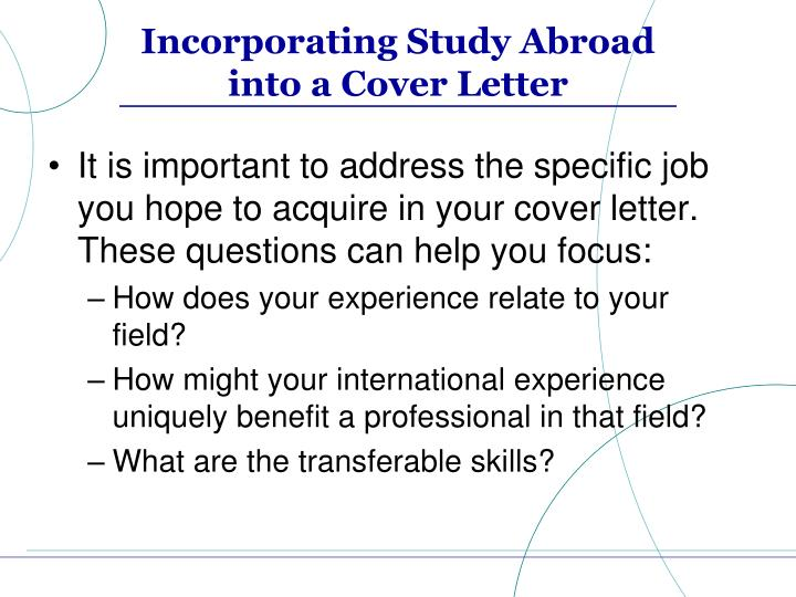Marketing Your Study Abroad Experience PowerPoint Presentation