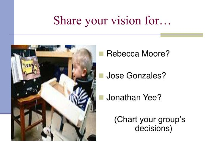 Share your vision for…