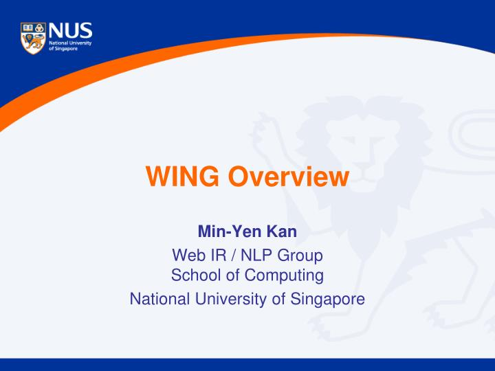 wing overview n.