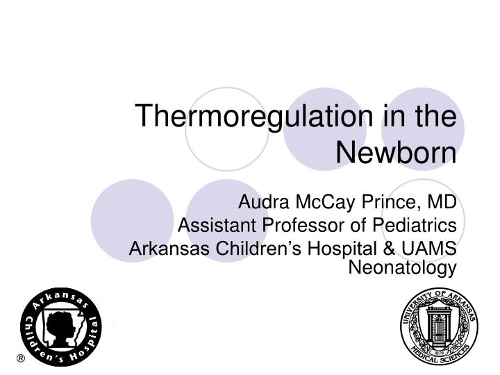 thermoregulation in the newborn n.