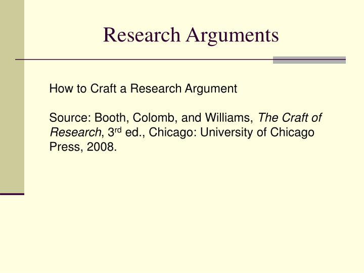 research arguments n.