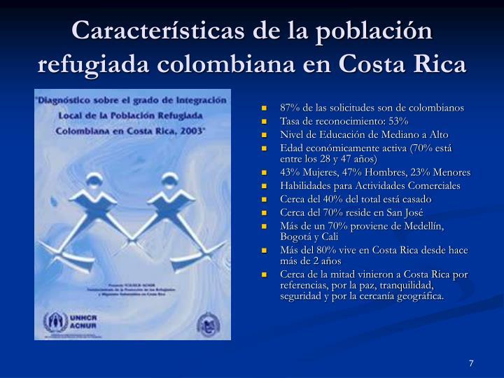 87% de las solicitudes son de colombianos