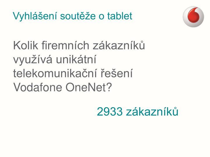 Vyhlášení soutěže o tablet
