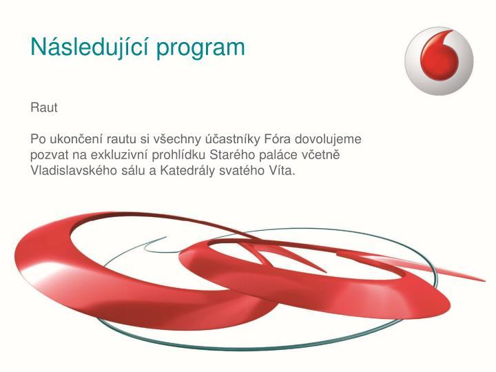 Následující program