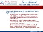 careers in dental research and academics1