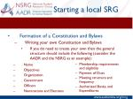 starting a local srg3