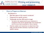 writing and presenting your research1