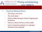 writing and presenting your research7