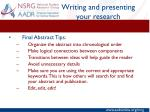 writing and presenting your research8