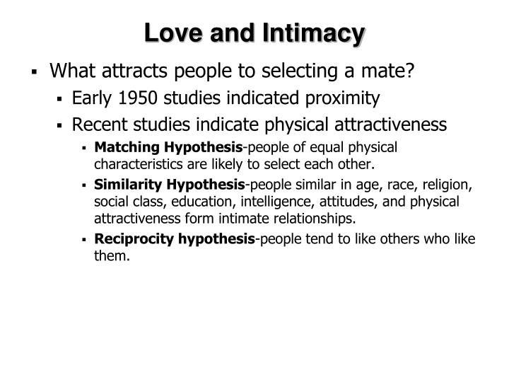 Love and Intimacy