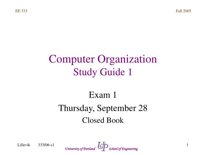 computer organization study guide 1 n.