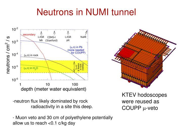 Neutrons in NUMI tunnel