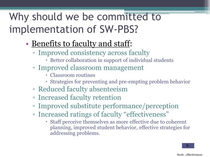 Why should we be committed to implementation of SW-PBS?