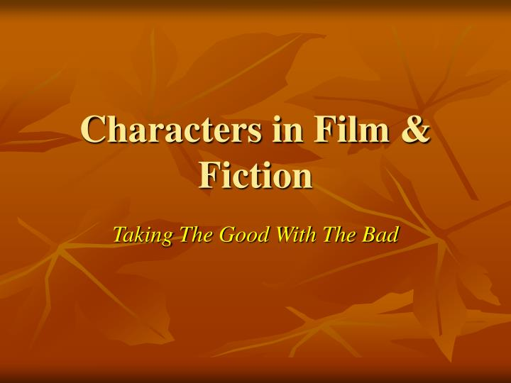 characters in film fiction n.