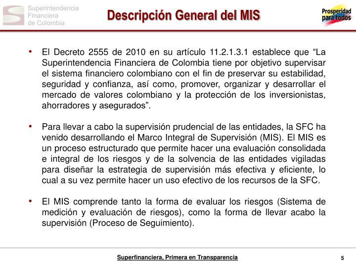 Descripción General del MIS