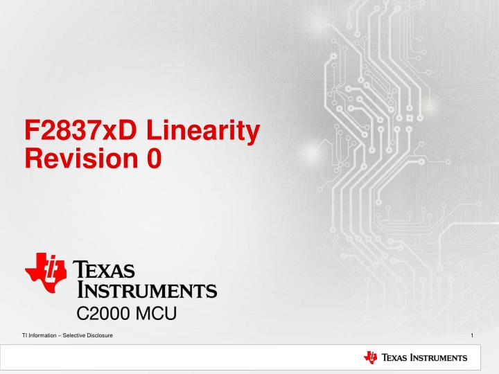 f2837xd linearity revision 0 n.