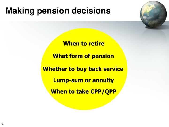 Making pension decisions
