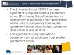 school to school vetis purchasing agreement