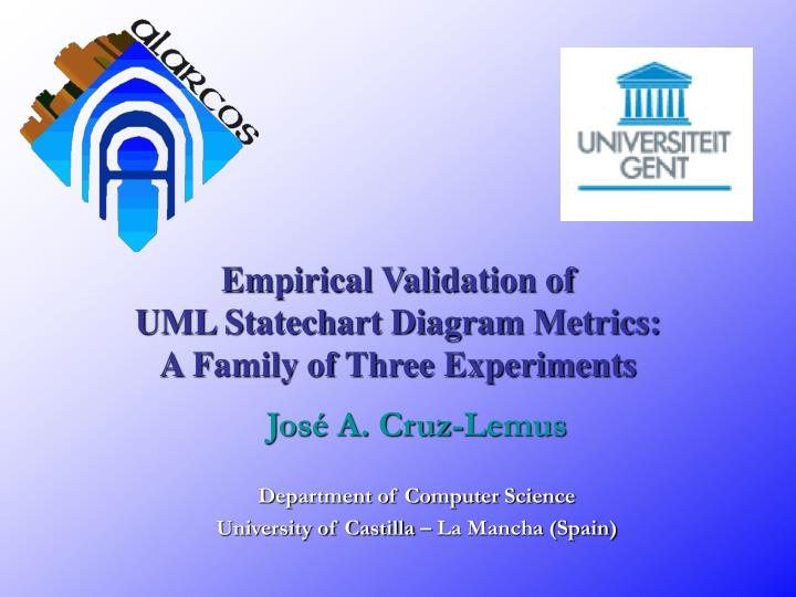 empirical validation of uml statechart diagram metrics a family of three experiments n.